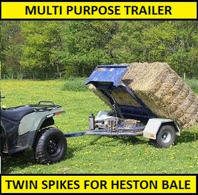 multi purpose trailer with spike options