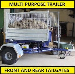 multi purpose trailer with front and rear tailgates