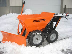muck truck with snow plough