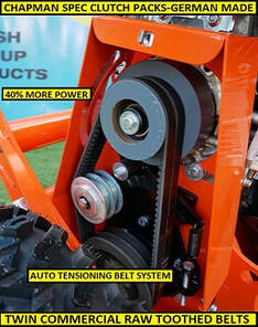 atv flail mower with twin commercial belts
