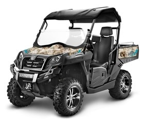 tracker 550 utility vehicle with camo design